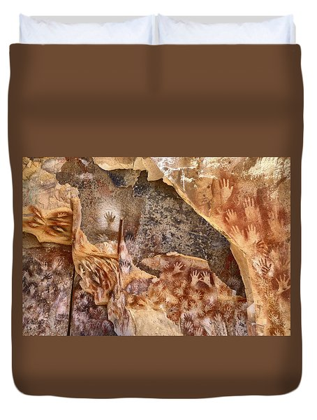 Cave Of The Hands Patagonia Argentina Duvet Cover