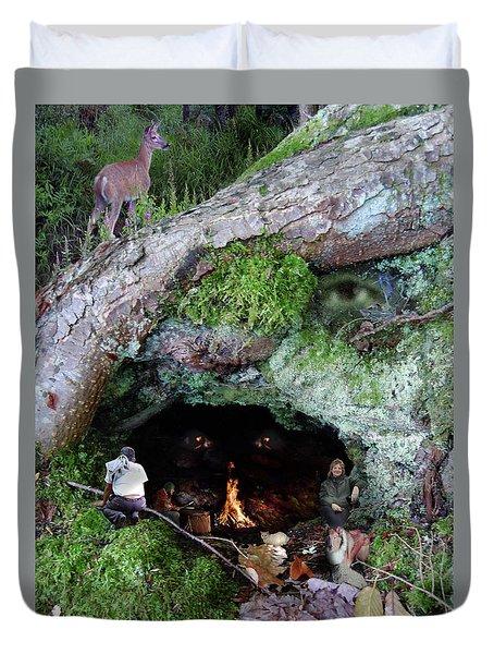 Cave Of Woodland Spirit Duvet Cover