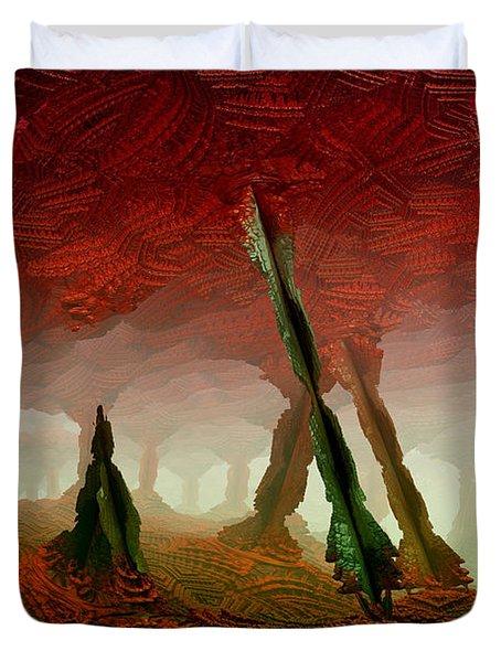 Duvet Cover featuring the digital art Cavern by Matt Lindley