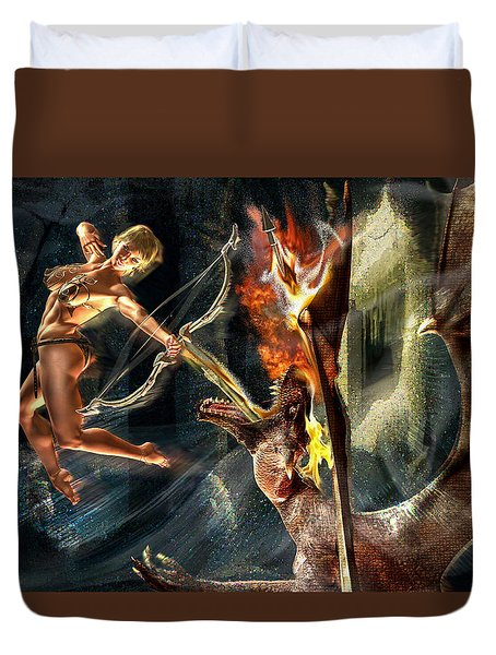 Duvet Cover featuring the photograph Caverns Of Light by Glenn Feron