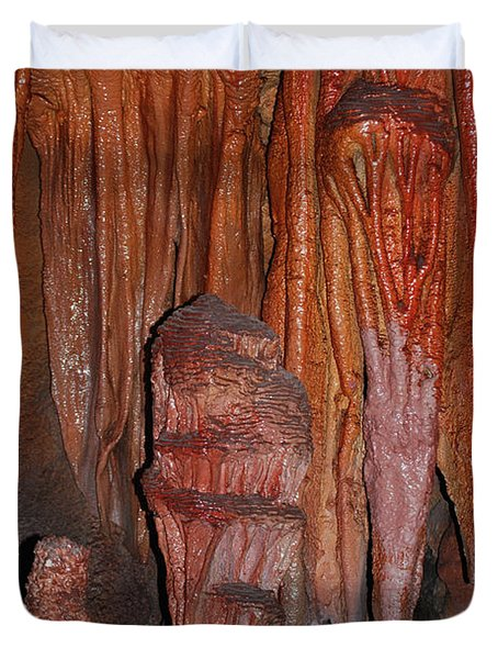 Caves In Arizona Duvet Cover by Donna Greene