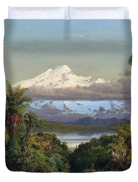 Cayambe Duvet Cover by Frederic Edwin Church