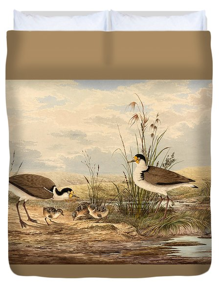 Cayley Masked Lapwing. Vanellus Miles Duvet Cover