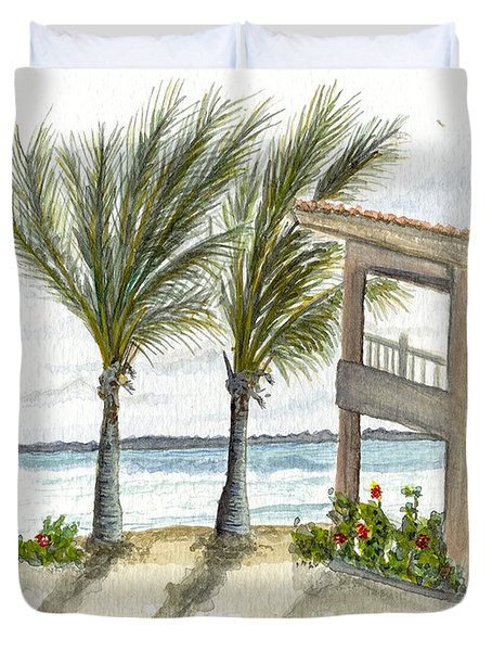 Cayman Hotel Duvet Cover by Darren Cannell
