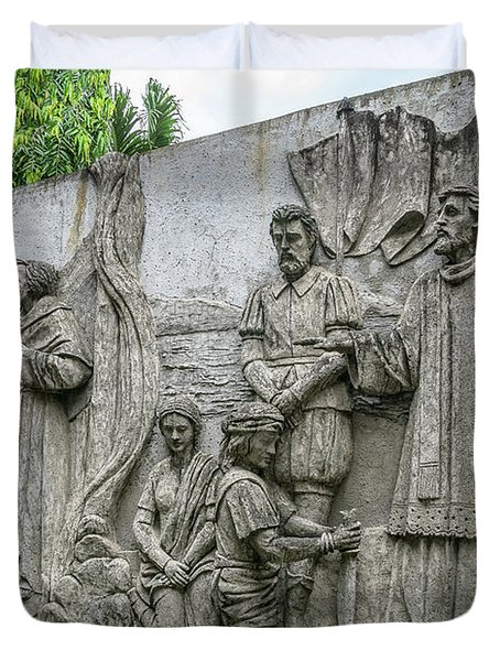 Cebu Carvings Duvet Cover