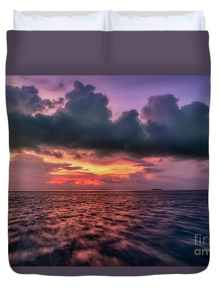 Duvet Cover featuring the photograph Cebu Straits Sunset by Adrian Evans