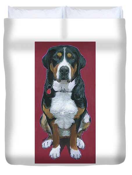 Duvet Cover featuring the painting Cece by Nadi Spencer