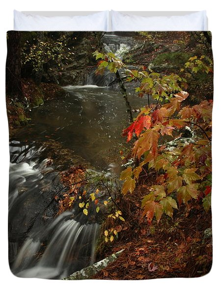 Duvet Cover featuring the photograph Cecil Cove Runoff by Michael Dougherty