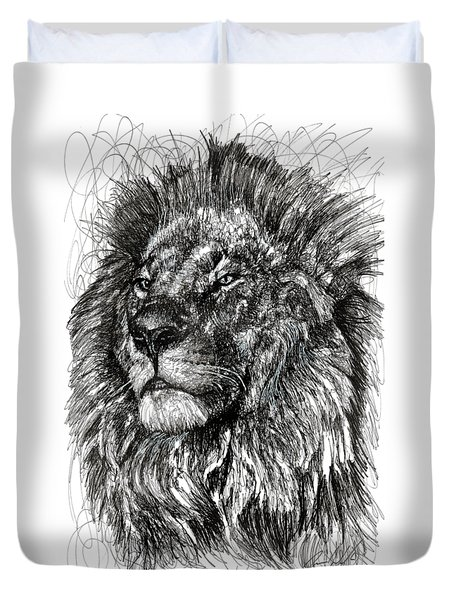 Cecil The Lion Duvet Cover by Michael Volpicelli