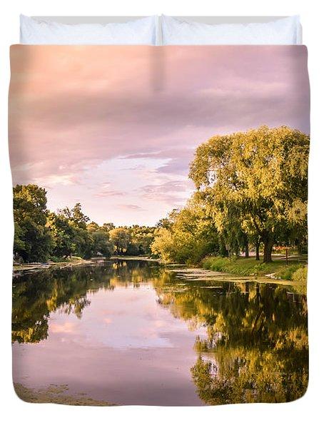 Cedar Creek - Early Evening Duvet Cover