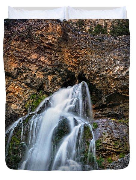 Cedar Creek Falls 2 Duvet Cover by Leland D Howard
