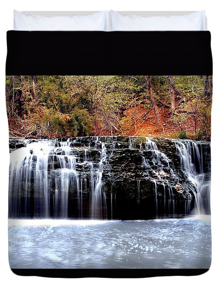 Cedar Creek Falls, Kansas Duvet Cover
