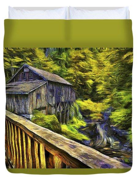 Cedar Creek Grist Mill Van Gogh Duvet Cover