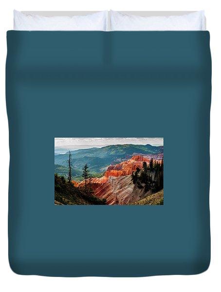Duvet Cover featuring the photograph Cedar Mountains From Cedar Breaks by TL Mair