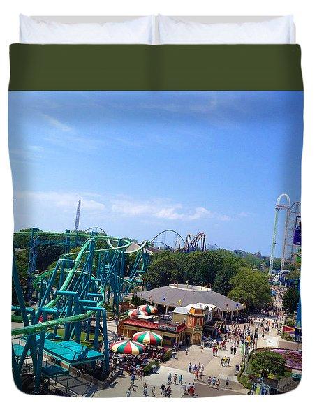 Cedar Point Amusement Park Duvet Cover