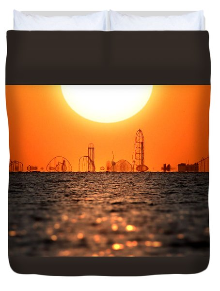 Cedar Point Skyline 2 Duvet Cover
