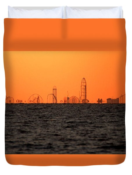 Cedar Point Skyline Duvet Cover
