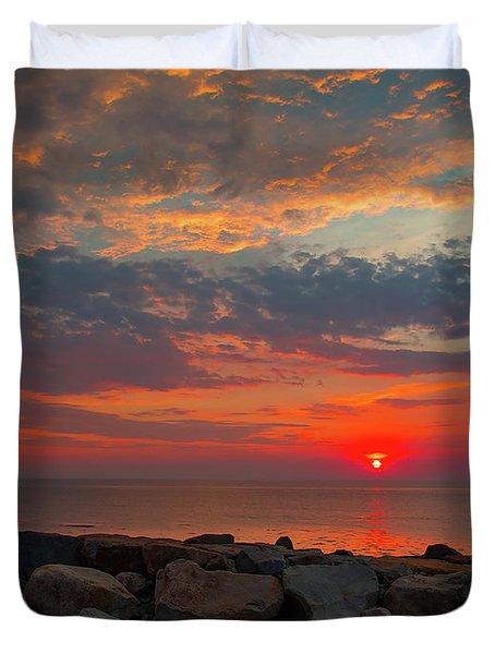 Cedar Point Sunrise Duvet Cover