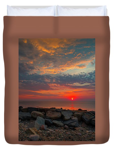 Cedar Point Sunrise Duvet Cover