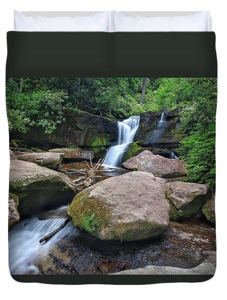 Cedar Rock Falls Duvet Cover