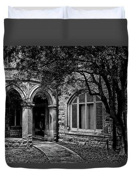 Duvet Cover featuring the photograph Cedarhyrst by Jessica Brawley