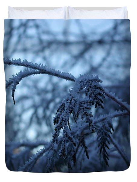 Cedars Of Ice Duvet Cover