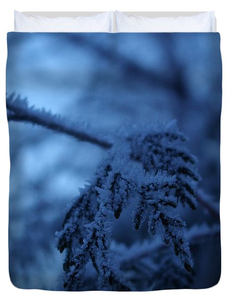 Cedars Of Ice II Duvet Cover