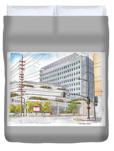 Cedars-sinai Medical Center, 3rd And San Vicente, West Hollywood, Ca Duvet Cover