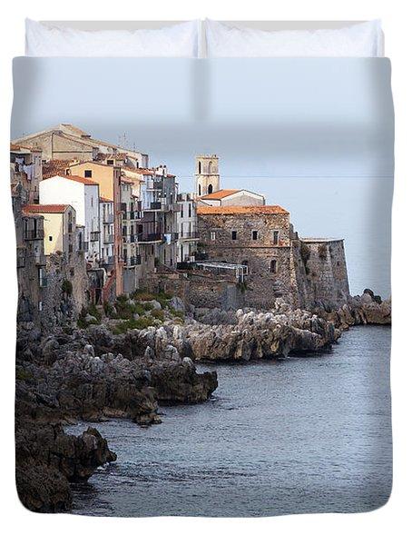 Cefalu, Sicily Italy Duvet Cover