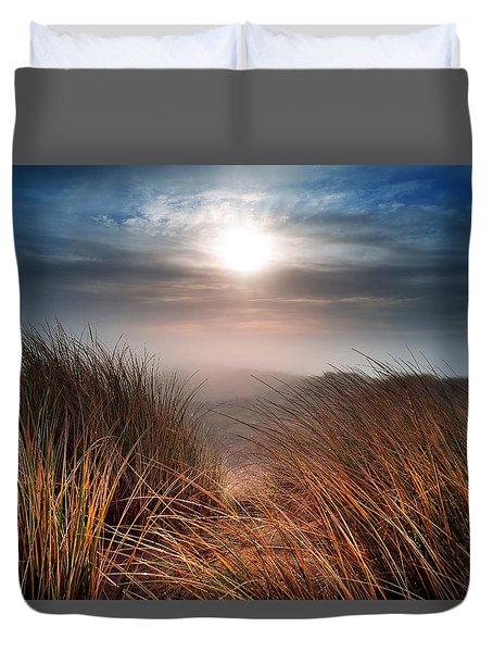 Cefn Sidan Beach 1 Duvet Cover