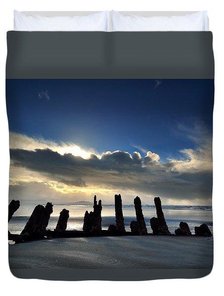 Cefn Sidan Beach 5 Duvet Cover