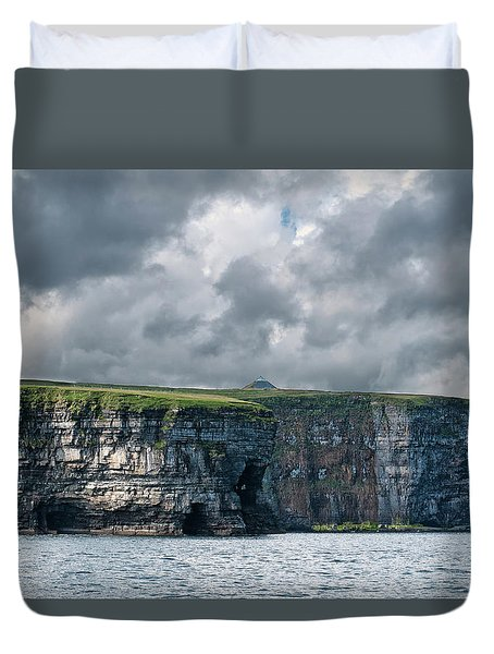 Ceide Cliffs Duvet Cover