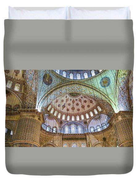 Ceiling Of Blue Mosque Duvet Cover