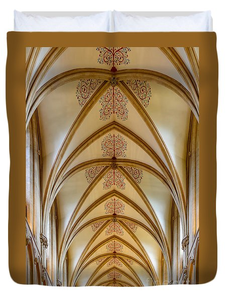 Ceiling, Wells Cathedral. Duvet Cover