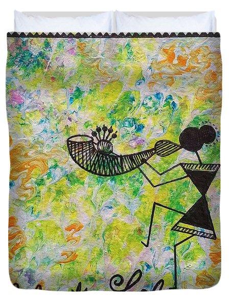 Warli Art - Celebration Of Life  Duvet Cover