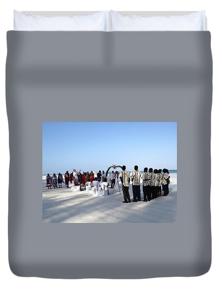 Celebrate Marriage In Kenya Duvet Cover