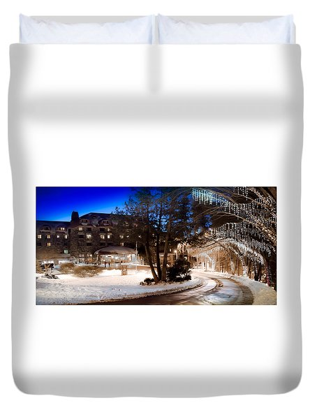 Celebrate The Winter Night Duvet Cover