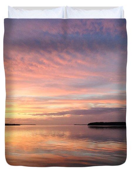 Celebrating Sunset In Key Largo Duvet Cover