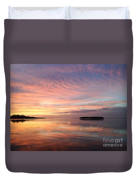 Celebrating Sunset In Key Largo Duvet Cover
