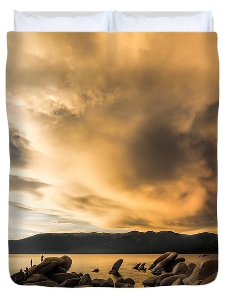 Celebrating Sunset Duvet Cover