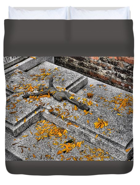 Duvet Cover featuring the photograph Celebrating The Day Of The Dead by Jim Walls PhotoArtist