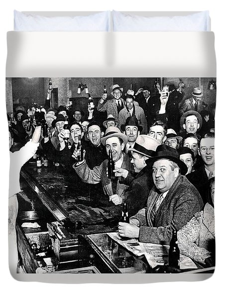 Celebrating The End Of Prohibition Duvet Cover