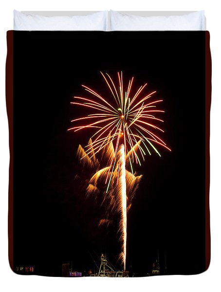 Celebration Fireworks Duvet Cover by Bill Barber