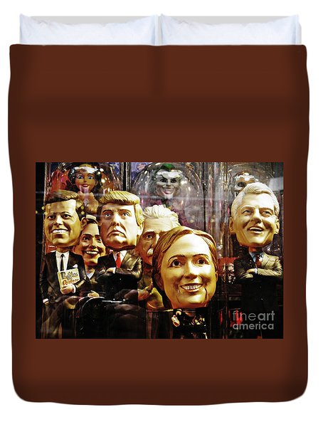 Celebrity Bobbleheads 1 Duvet Cover