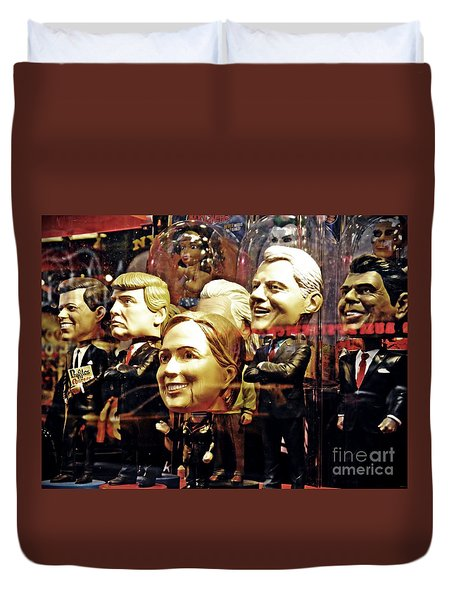 Celebrity Bobbleheads 2 Duvet Cover
