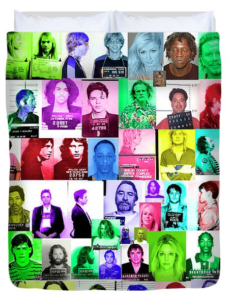 Celebrity Mugshots Duvet Cover by Jon Neidert