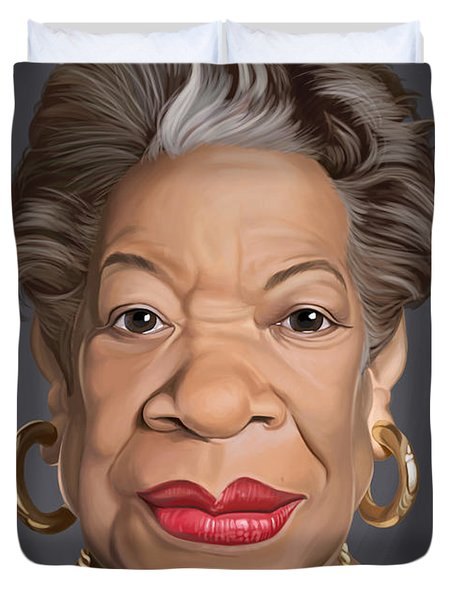 Celebrity Sunday - Maya Angelou Duvet Cover by Rob Snow