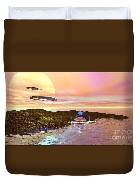 Celeron 3 Duvet Cover by Corey Ford