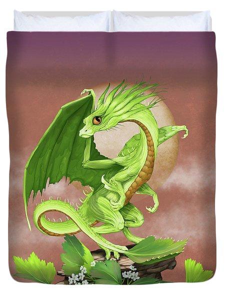 Celery Dragon Duvet Cover