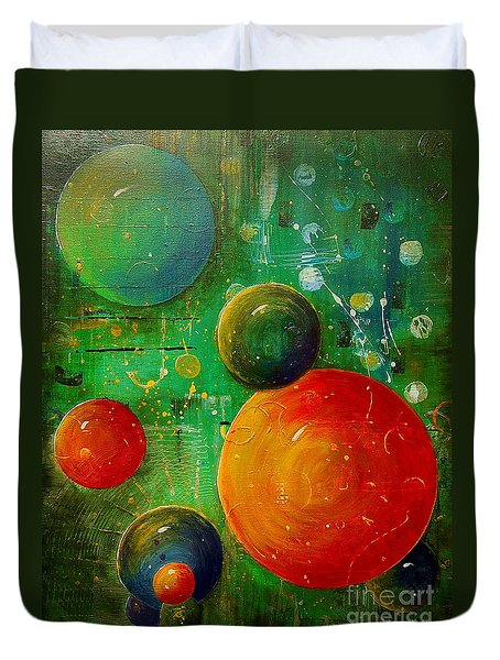 Celestal Planets Duvet Cover by Tamyra Crossley
